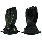Spyder Overweb Gore-Tex Gloves, Black-Theory Green, medium