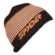 Spyder Upslope Hat (Previous Season), Black-Bryte Orange-Cirrus, medium