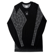 Spyder Skeleton Mens Long Underwear Top, Black-White, medium