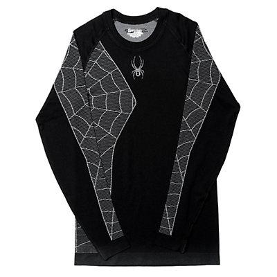 Spyder Skeleton Mens Long Underwear Top (Previous Season), Black-White, viewer
