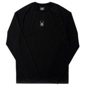 Spyder Freestyler Mens Long Underwear Top, Black-Polar, medium