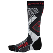 Spyder Zenith Ski Socks (Previous Season), Polar-Black-White, medium