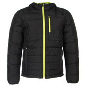 Spyder Dolomite Hoody Jacket, Black-Theory Green, medium