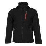 Spyder Patsch Novelty Soft Shell Jacket, Black-Volcano, medium