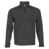 Spyder Vectre Half-Zip Fleece Mens Mid Layer, Black-Polar, medium