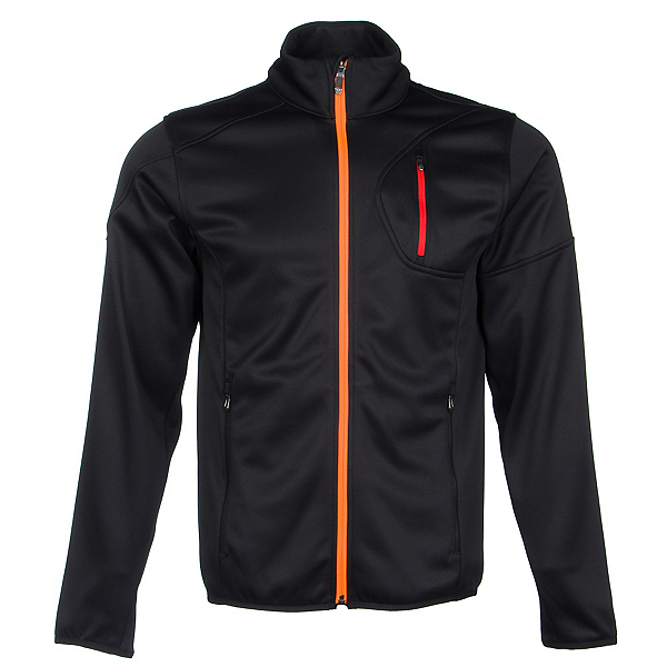 Spyder Bandit Full Zip Mens Jacket (Previous Season), Black-Bryte Orange-Volcano, 600