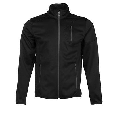 Spyder Bandit Full Zip Mens Jacket, Black-Bryte Orange-Volcano, viewer