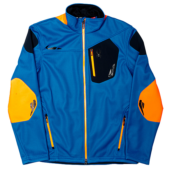 Spyder Core Legend 3L Full Zip Mens Sweater (Previous Season), Concept Blue-Bryte Orange-Blac, 600