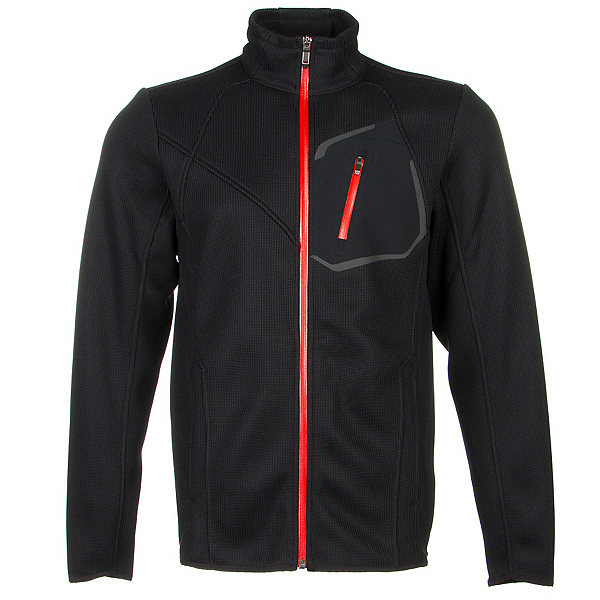 Spyder Core Paramount Full Zip Mens Sweater (Previous Season), Black-Volcano, 600