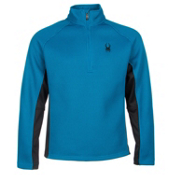 Spyder Core Pitch Half Zip Mens Sweater, Concept Blue-Black, medium