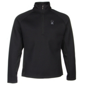 Spyder Core Pitch Half Zip Mens Sweater, Black-Black, medium