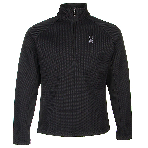 Spyder Core Pitch Half Zip Mens Sweater (Previous Season), Black-Black, 600