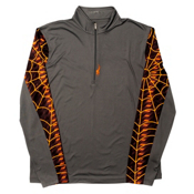 Spyder Webstrong DRY WEB Mens Mid Layer (Previous Season), Polar-Bryte Orange, medium