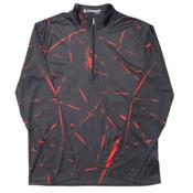 Spyder Anti Web Dry WEB T-Neck Mens Mid Layer, Black-Volcano, medium