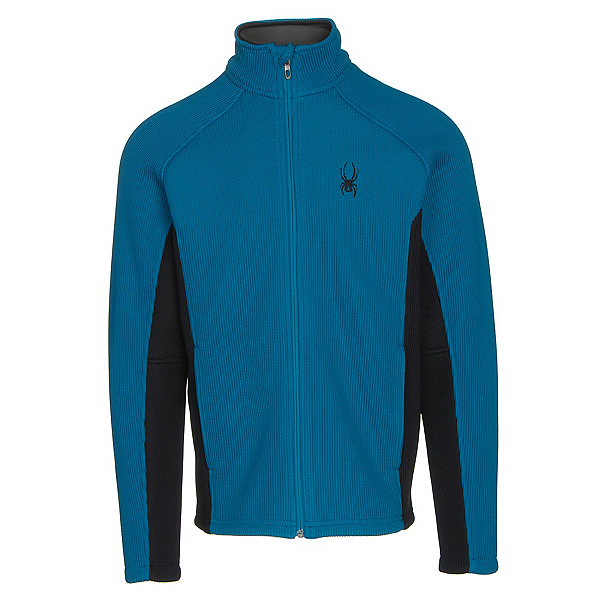 Spyder Core Foremost Full Zip Mens Sweater, Concept Blue-Black, 600