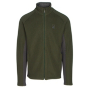 Spyder Core Foremost Full Zip Mens Sweater, Albion Green-Polar, medium