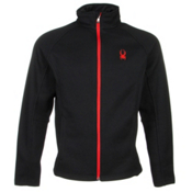 Spyder Core Constant Full Zip Mens Sweater, Black-Volcano, medium