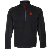 Spyder Core Outbound Half-Zip Mens Sweater, Black-Black-Volcano, medium