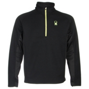 Spyder Core Outbound Half-Zip Mens Sweater, Black-Black-Theory Green, medium