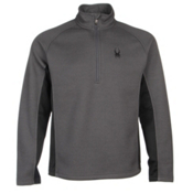 Spyder Core Outbound Half-Zip Mens Sweater, Polar-Black-Polar, medium