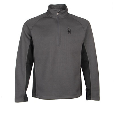 Spyder Core Outbound Half-Zip Mens Sweater, Polar-Black-Polar, viewer