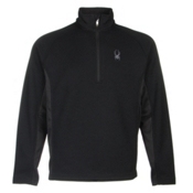 Spyder Core Outbound Half-Zip Mens Sweater, Black-Black-Black, medium