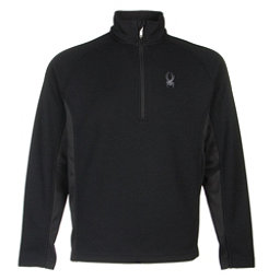 Spyder Core Outbound Half-Zip Mens Sweater, Black-Black-Black, 256