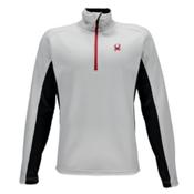 Spyder Core Outbound Half-Zip Mens Sweater, White-Black-Red, medium