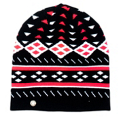 Spyder Apres Womens Hat, Black-White-Bryte Pink, medium