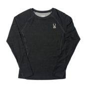 Spyder Athlete T-Hot Wool Womens Long Underwear Top (Previous Season), Black-Black, medium