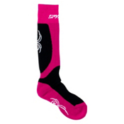 Spyder Surprise Ski Socks - 3 Pack, Black-Bryte Pink-White, medium