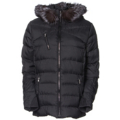 Spyder Aimie Down Womens Jacket, Black Melange Fabric, medium