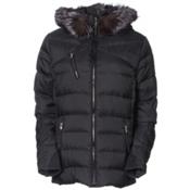 Spyder Aimie Down Womens Jacket, Black Melange Fabric, medium