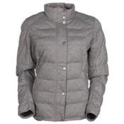 Spyder Vyvyd Synthetic Down Womens Jacket, Image Gray Stripe Fabric, medium