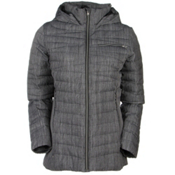 Spyder Timeless Novelty Down Womens Jacket, Black Linen Fabric-Black, medium