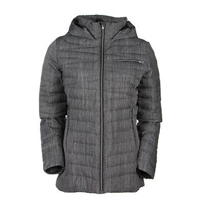 Spyder Timeless Novelty Down Womens Jacket (Previous Season), Black Drape Print-Black, viewer