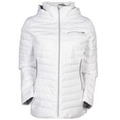 Spyder Timeless Novelty Down Womens Jacket, White Linen Fabric-Image Gray, medium