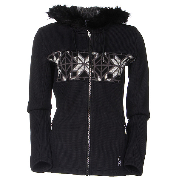 Spyder Core Soiree Faux Fur Hood Womens Sweater (Previous Season), , 600