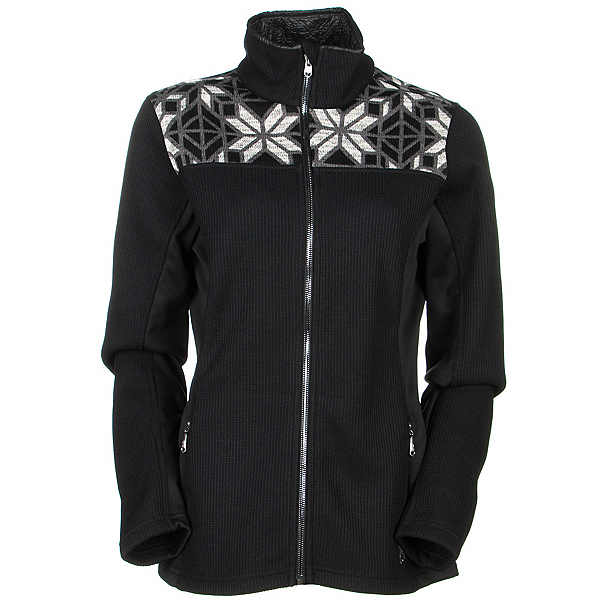 Spyder Core Criss Full Zip Womens Sweater (Previous Season), Black-White-Image Gray, 600