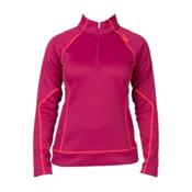 Spyder Peach Therma Stretch Womens Mid Layer, Wild-Bryte Pink, medium