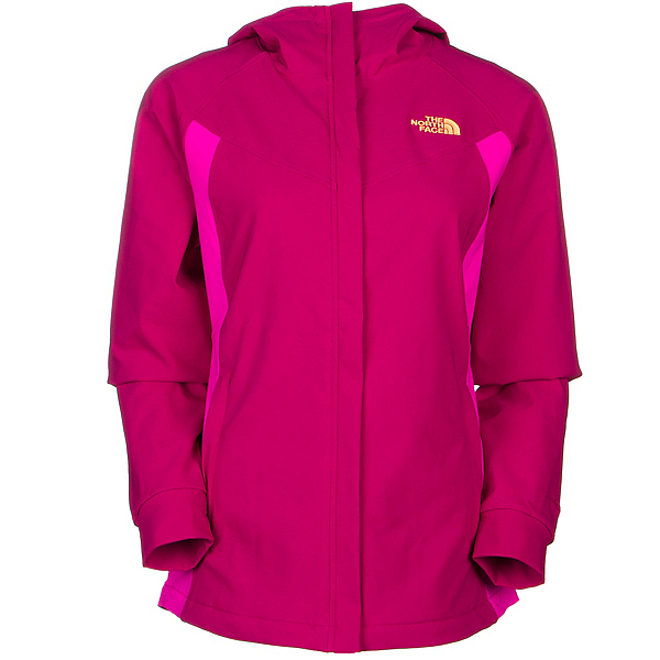 The North Face Maddie Raschel Womens Soft Shell Jacket, Dramatic Plum-Luminous Pink, 600