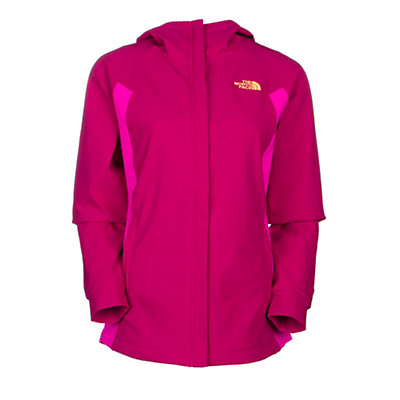 The North Face Maddie Raschel Womens Soft Shell Jacket, Dramatic Plum-Luminous Pink, viewer