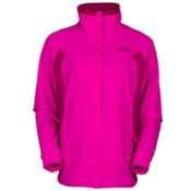 The North Face Ruby Raschel Womens Soft Shell Jacket, Luminous Pink-Dramatic Plum, medium