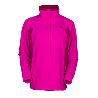 The North Face Ruby Raschel Womens Soft Shell Jacket, Luminous Pink-Dramatic Plum, viewer