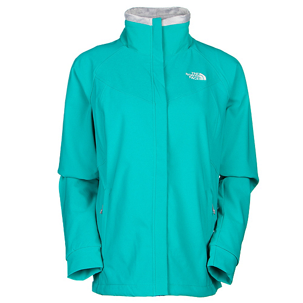 The North Face Ruby Raschel Womens Soft Shell Jacket, Kokomo Green-Kokomo Green, 600