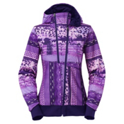The North Face Thatch Womens Hoodie, Garnet Purple Mash Up Print, medium