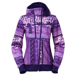 The North Face Thatch Womens Hoodie, Garnet Purple Mash Up Print, 256
