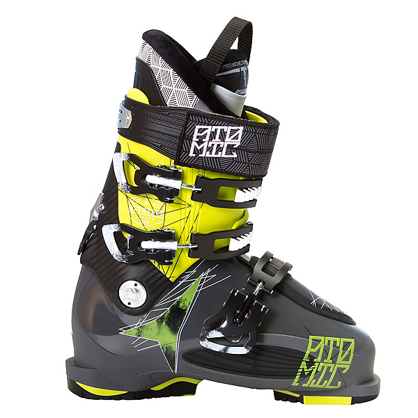 Atomic Waymaker Carbon 110X Ski Boots, Lime-Anthracite, 600