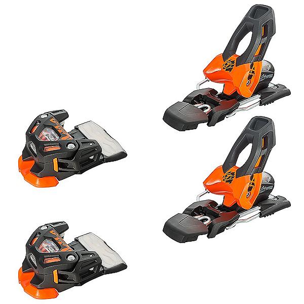 Tyrolia Attack 11 Ski Bindings, Solid Black-Flash Orange, 600