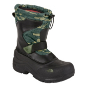 The North Face Alpenglow Pull-On Kids Boots, TNF Black-Tree Bark Camo Print, medium